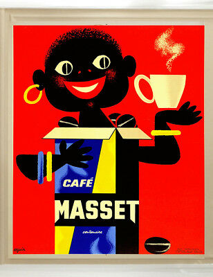 A0 A1 A2 A3 poster print 4 glass frame cafe coffee vintage advert painting art