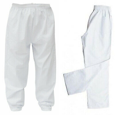 White Painters Decorators Work Trousers Kitchen Chef Pants LOW PRICE