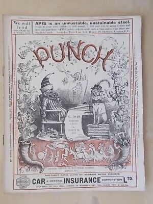 VINTAGE WWI PUNCH MAGAZINE MARCH 14th 1917 HUMOUR - CARTOONS - ADVERTS