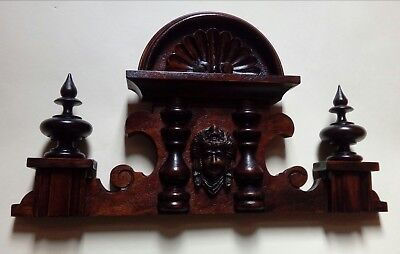 CROWN WOODEN TO THE CLOCK GERMAN VIENNA LENZKIRCH REGULATOR BECKER nr.53
