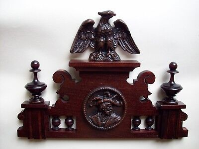 CROWN WOODEN TO THE CLOCK GERMAN VIENNA LENZKIRCH REGULATOR BECKER nr.62