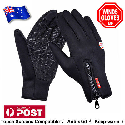 Cycling Touch Screen Gloves windproof Outdoor Jogging Skiing Hiking Running AU