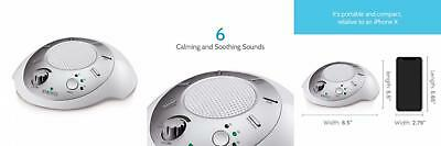 Homedics White Noise Sound Machine   Portable Sleep Therapy for Home,...