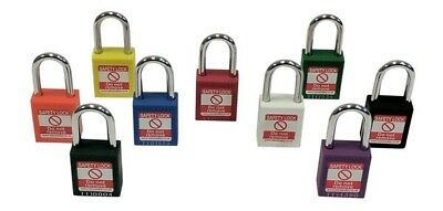 Safety Padlock Nylon body Steel Shackle Lockout Tagout Padlocks Lock out
