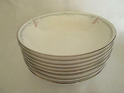 "Set of Eight (8) Royal Doulton""Carnation"" H.5804 Soup/Cereal Bowls 1st Quality"
