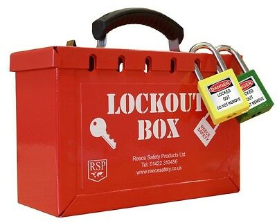 Reece Safety 12 lock Group Lockout box High Quality Strong Tagout
