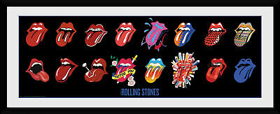The Rolling Stones Tongues Collector Print 75x30cm | 12x30