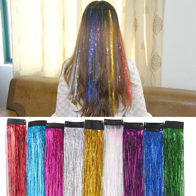 Popular Glitter Color Hair Tinsel Sparkle Holographic Extension Highlight Party