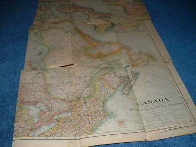 National Geographic Map - Canada - 1936