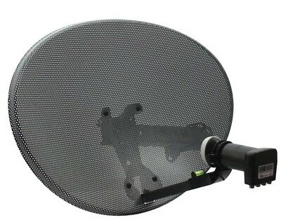 Zone 1 Sky Satellite Dish MK4 and Quad LNB For Sky HD Freesat PVR