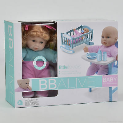 Early Learning Doll Play Set With High Chair And Accessories - Free Delivery