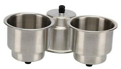 Amarine-made 3x Stainless Steel Cup Drink Holder withDrain Marine Boat Rv Camper