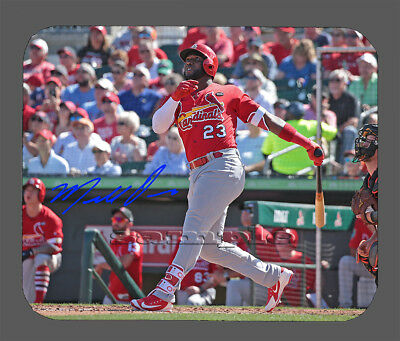 2ddb5b751 Item 6219 Marcell Ozuna St. Louis Cardinals Facsimile Autographed Mouse Pad