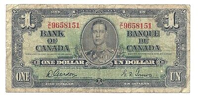 1937 Canada One Dollar Bank Note