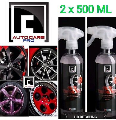Diamond Cut Chrome Alloy Wheel Cleaner Iron Fallout Remover PH 7 Neutral Red D