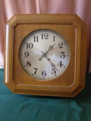 Antique 8 sided wall clock, pendulum mechanism