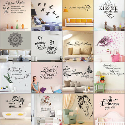Quote Removable Wall Sticker Decal Mural Art Vinyl Home Bedroom Family Decor Lot
