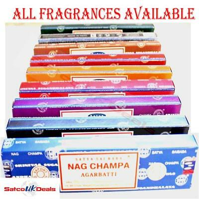 PACK OF 3 OR 12 Satya Genuine Nag Champa Incense Sticks Joss Mix Scent Box Fragr