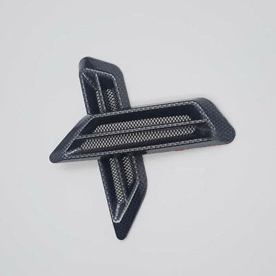 Car ABS Carbon Fiber Net Air Intake Flow Vent Hood Motorcycle Cover Badge GZ-508