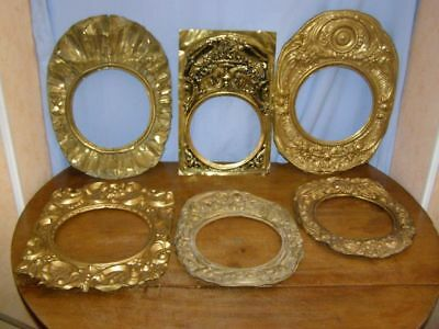 Lot of 6 old pediments  for comtoise movement