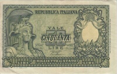 Italy Banknote P91a-2510 50 Lire, VF