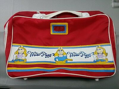 Vintage Miss Piggy Collection 1979 Travel Bag Red The Muppets Jim Henson EUC