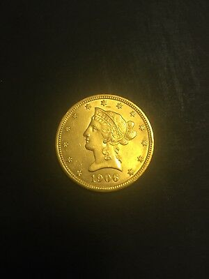 1906 D $10 Gold Liberty Eagle - NICE STRIKE - From Massive Estate Hoard 002
