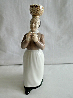 "Bing & Grondahl ""Woman with the Eggs"" Figurine ~ #2126 ~ B&G ~ Mint Condition"