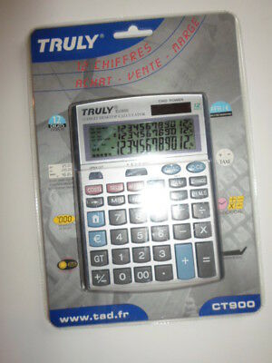 Calculatrice Solaire Truly Ct900 Triple Affichage Neuf
