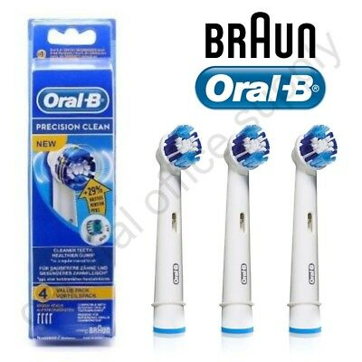 GENUINE Braun Oral-B PRECISION CLEAN Electric Toothbrush Replacement Brush Heads