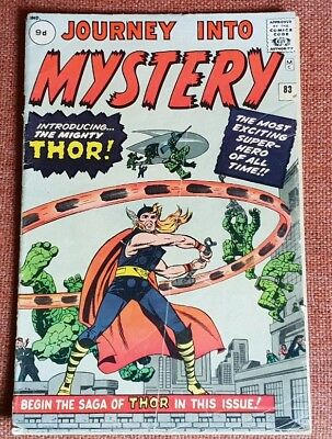JOURNEY INTO MYSTERY #83 -1962 - (VG) (1st THOR)  (UK PENCE PRICE VARIANT)