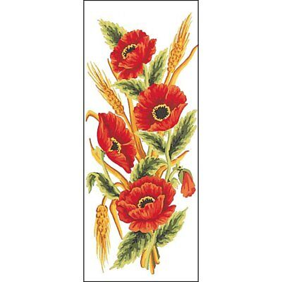 Grafitec Printed Tapestry Needlepoint Canvas - Poppies and Wheat