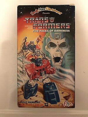 Transformers Five Faces Of Darkness VHS Classic FHE 1986 Autobots vs Decepticons