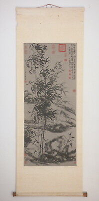 Chinese Bamboo Scroll Print