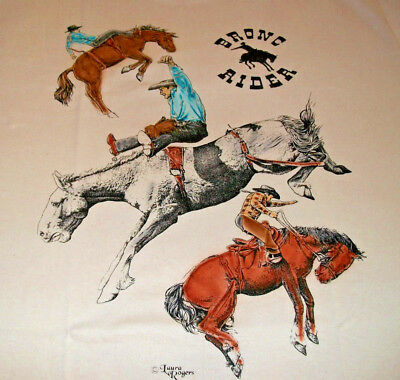 "Bronc Riders T-shirt "" Natural "" XL ( 46 ~ 48 )"