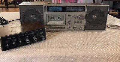 Retro General Electric Stereo System Model 7-4990A w/ Amp Speakers Stereo System