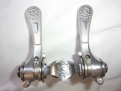 manettes vitesses Simplex shifters Super LJ rétrofriction old bicycle made in FR