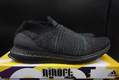 06b53dfc53d ADIDAS ULTRABOOST LACELESS LTD Triple Black BB6222 NEW -  299.99 ...
