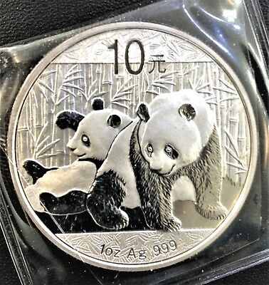 2010 Chinese Panda 10元¥ 中华人民共和国 Republic Of China 1oz Ag.999 Silver Coin Bullion