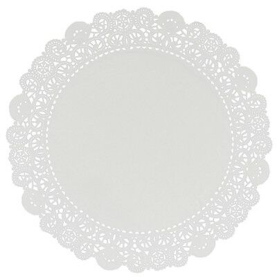 "Lacette White Round Paper Lace Doyleys Doylies Doilies 4.5""/11.5cm Pack of 250"