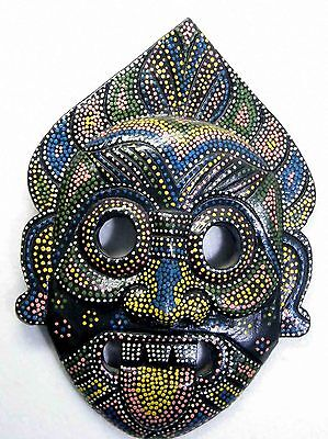PRIMITIVE TRIBAL TIKI WOODEN WALL HANGING MASK BALI INDONESIAN HOME DECOR No.03