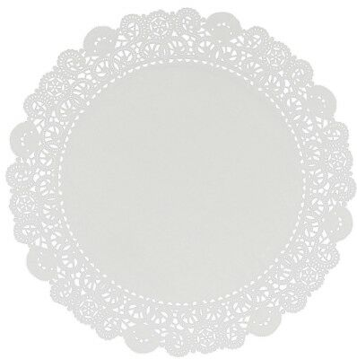 "Lacette White Round Paper Lace Doyleys Doylies Doilies 9.5""/24cm Pack of 250"