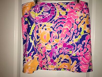 $78 NEW Lilly Pulitzer MARIGOLD SKORT Shorts Brilliant Blue Catch an Release 2 8