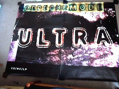 """DEPECHE MODE """"ULTRA"""" (Official 60"""" x 80"""" Promotional Poster) MASSIVE (2 parts!!)"""