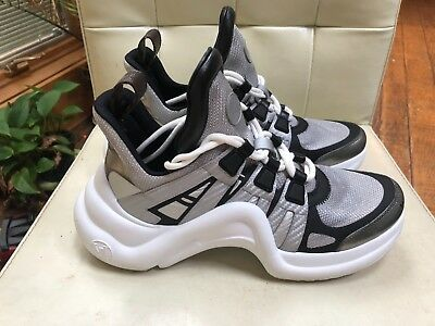 a645cb8bf Louis Vuitton LV Archlight Silver White SS18 Lace Up Flat Trainer Sneaker 38