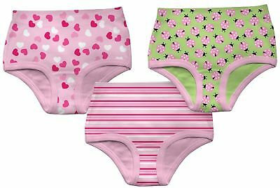 Green Sprouts Little Girls' Underwear 3Pk - Assorted Prints - 2-3 Years