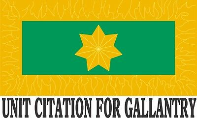 Coral - Balmoral Unit Citation For Gallantry  W/star Vinyl Sticker 146 X 87.7Mm