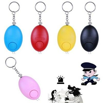 Egg-Shaped Personal Safety Alarm Anti-Attack Rape Security Self Defense Keychain