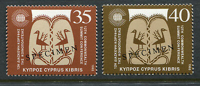 """1993 Cyprus. 12th Commonwealth Summit Conference.  Set of 2 MUH. """"SPECIMEN"""" opt."""