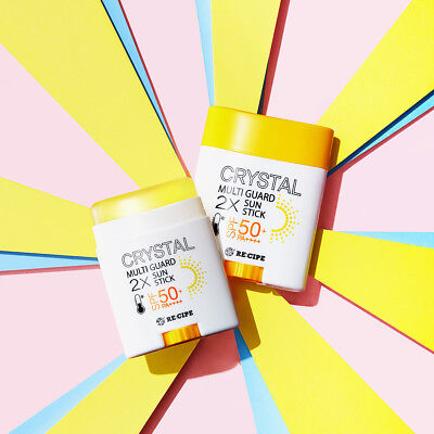 RE:CIPE Crystal Multi Guard 2X Sun Stick Block SPF 50+ PA++++ (14g/22g) k-beauty